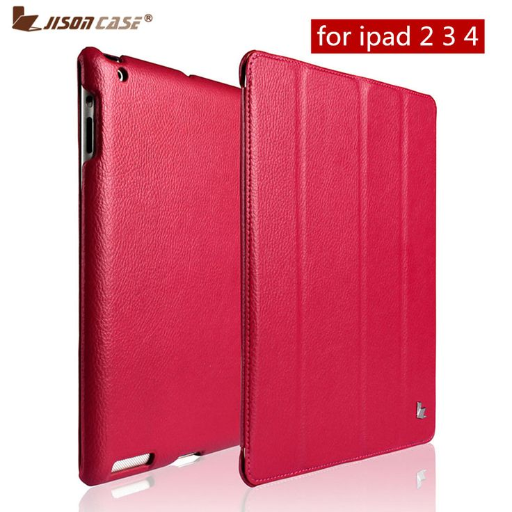 Jisoncase Luxury Smart Case For iPad 4 3 2 Flip Folio Cover Stand Leather Auto Wake /Sleep Covers For iPad 2 3 4 Case Funda Capa. 1. Attractive Smart cover in the upper cushion, naturally wake up and rest case for iPad 4 3 2 2. Brilliant miniaturized scale fiber lining, shield your Pad sans preparation and shock. 3., best offer