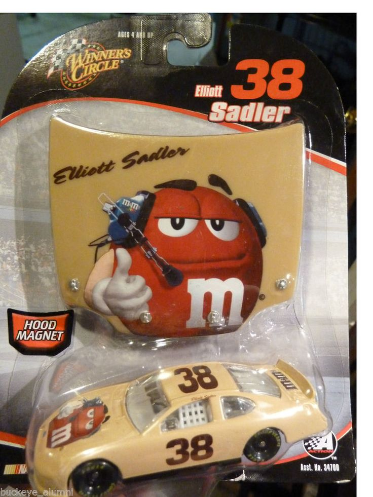 M&M's Nascar Winner's Circle 1:64 Die Cast Car #38 Elliot ...