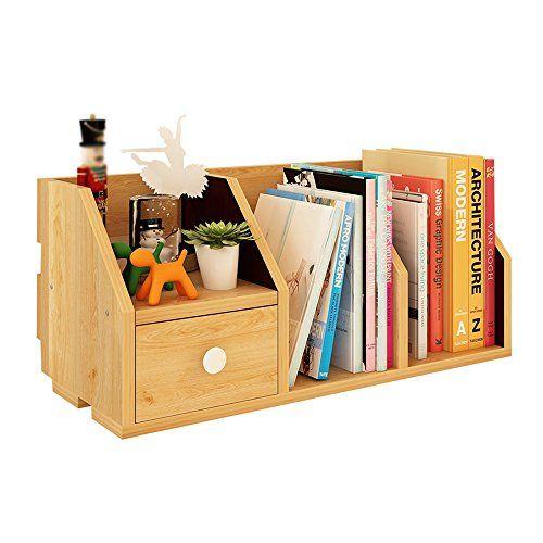 7Layer Wood Desktop Organizer Book Shelf Rack Storage Home Office Table Bookcase