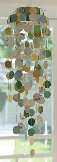 """Paint Chip Mobile [photo by Kayte Terry from the book """"Paper Made!  101 Exceptional Projects to Make out of Everyday Paper"""" from Workman press]"""