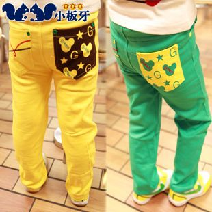 2013 autumn korean version of the new childrens clothing boys and girls baby child stretch jeans long pants special 3449 only $7.77USD a Piece