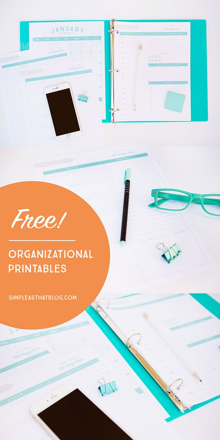 FREE organizational printables to streamline your to-do lists, your schedule, your meal plans—YOUR LIFE!