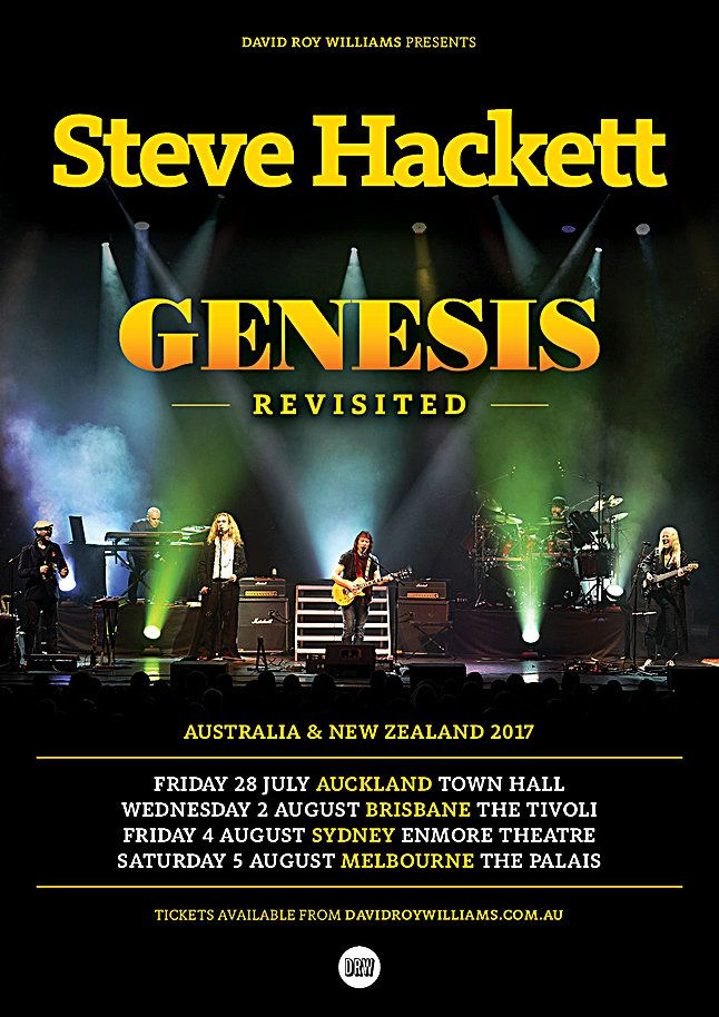 Steve Hackett Announces ''Genesis Revisited'' Australian and NZ Tour. Read on: https://www.radiovjz.com/single-post/2017/03/29/Steve-Hackett-Announces-Genesis-Revisited-Australian-and-NZ-Tour