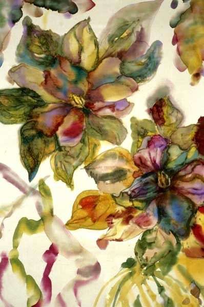 Silk Painting by Cathy Rozzelle