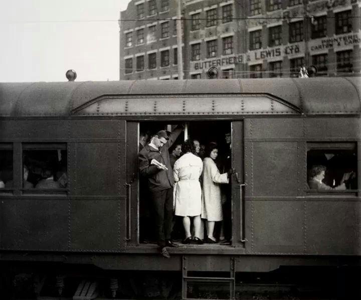 Red Rattler at Redfern Station, Sydney in 1965