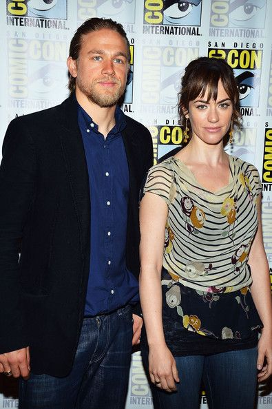 "Maggie Siff and Charlie Hunnam | Maggie Siff and Charlie Hunnam - ""Sons Of Anarchy"" - Press Line ..."