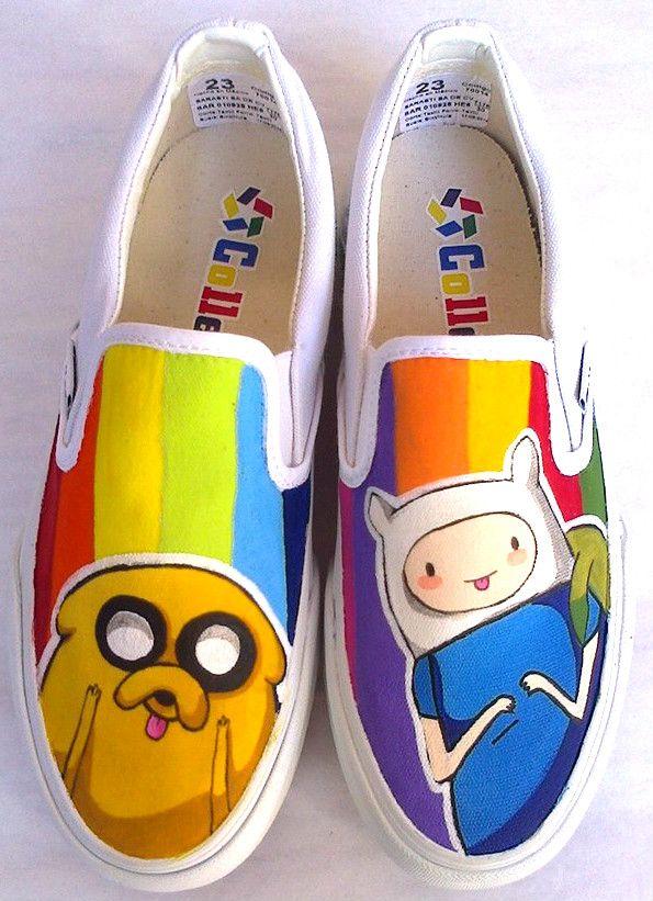 Hora de aventura - Alive shoes - Tenis pintados a mano :)