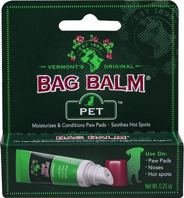 Soothe and protect your pet's sensitive skin with Bag Balm Pet Skin Moisturizer. With just four simple ingredients that have remained unchanged since it was first developed in 1899, Bag Balm is an incredibly versatile, long-lasting moisturizer that's perfect for treating chafed, cracked, damaged skin on pets of all shapes and sizes. The alcohol-free, no-sting formula is made with Petrolatum to moisturize and Lanolin to soothe and soften; it's also uniquely formulated to discourage pets from…