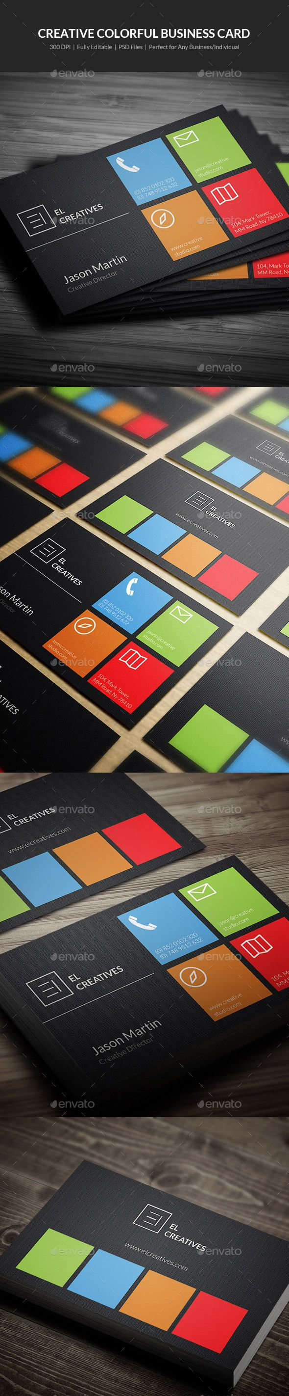 Creative Colorful Business Card Template PSD #visitcard #design Download: http://graphicriver.net/item/creative-colorful-business-card-02/13198500?ref=ksioks