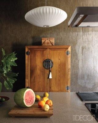 antique Korean cabinet in kitchen - Gilmour home in Fiji