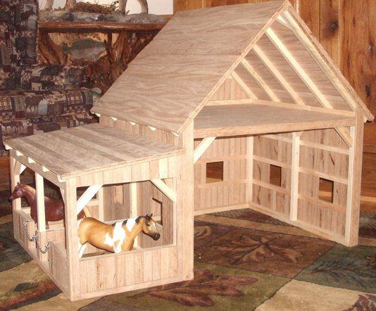 Hand Crafted Wooden Toy Barn #7 by Wild Cat Hollow Creations | CustomMade.com