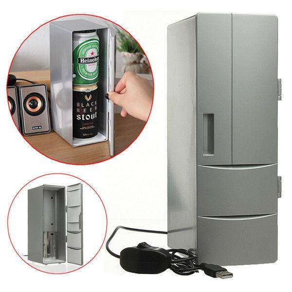 Функциональный гаджет - мини-холодильник, работающий от порта USB. Отличное устройство, которое помогает в любых ситуациях - когда нужно охладить и когда нужно нагреть.