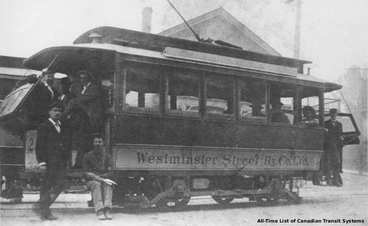 The beginning of New Westminster transit