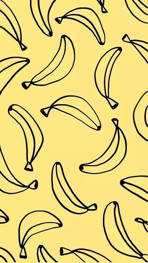 Banana wallpaper on a yellow colored background | conversational prints | | conversational prints fashion | | conversational prints pattern | http://www.thinkcreativo.com/