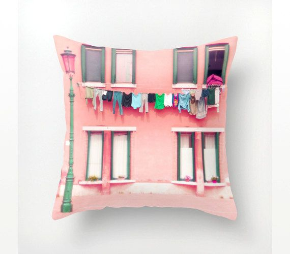 Photo pillow cover decorative pillow case Venice by magnesina, $27.00