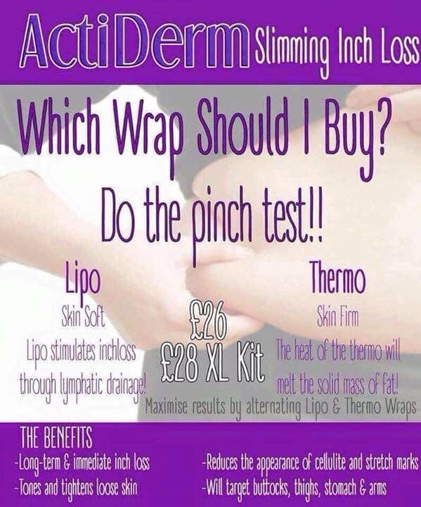 Great advice on how to choose the best ActiDerm Wrap Kit - http://www.actiderm.co.uk/me/melissa-bright/slimming-inch-loss/