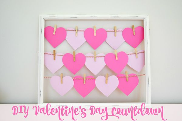 Count down to the sweetest day of the year with this easy and fun DIY Valentine's Day Countdown on www.prettymyparty.com.