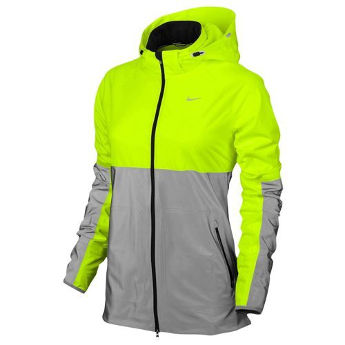 Nike Shield Flash Jacket - Women's - Running - Clothing - Volt/Reflective Silver/Reflective Silver - Christmas????