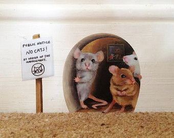 Autoadesivo della parete del foro topi di StickersfromLola su Etsy