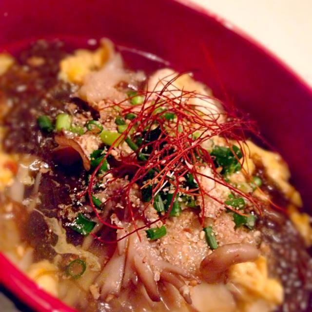 暴飲暴食に喝を!! でも、夜は飲むけど…w - 54件のもぐもぐ - サンラータン麺(麺はもずくだけどねw)❤️ by mieko matsuzaki