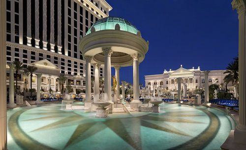 Caesars Palace Las Vegas - A tribute to Roman opulence, Caesars Palace specializes in providing entertainment and pampering services fit for the gods. It is located on the Strip, approximately four miles north of McCarren International Airport.
