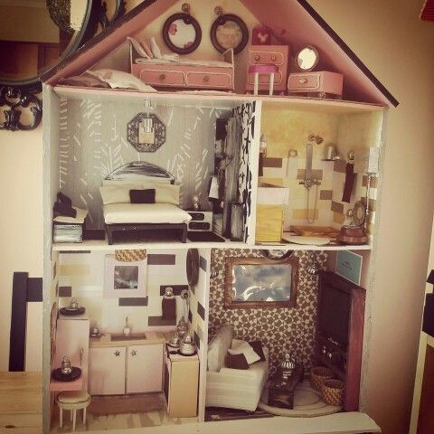 "One year dollhouse project,""not buy anything"" goal...."