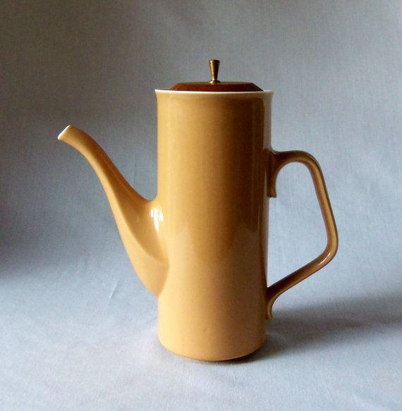 Mid Century Modern Coffee Pot Ceramic Pitcher Treasruy Item