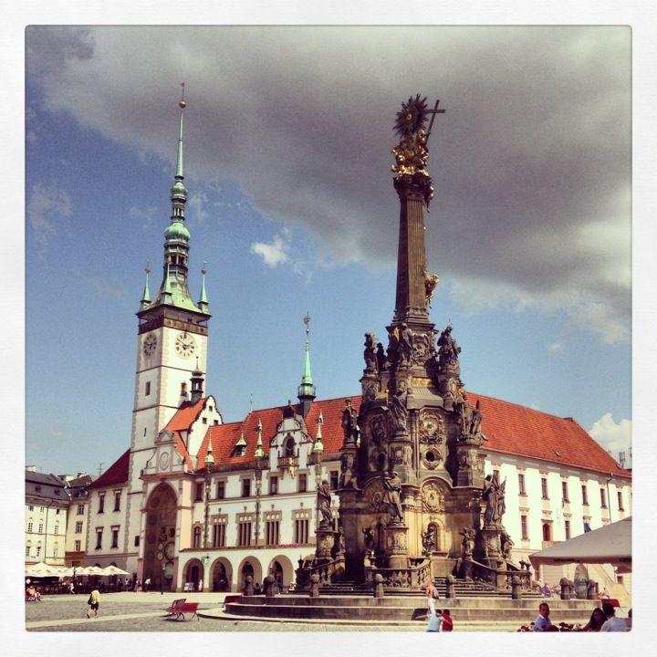 Nádherné historické město Olomouc.