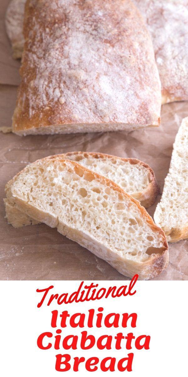 This delicious Italian Ciabatta Bread is made the ...