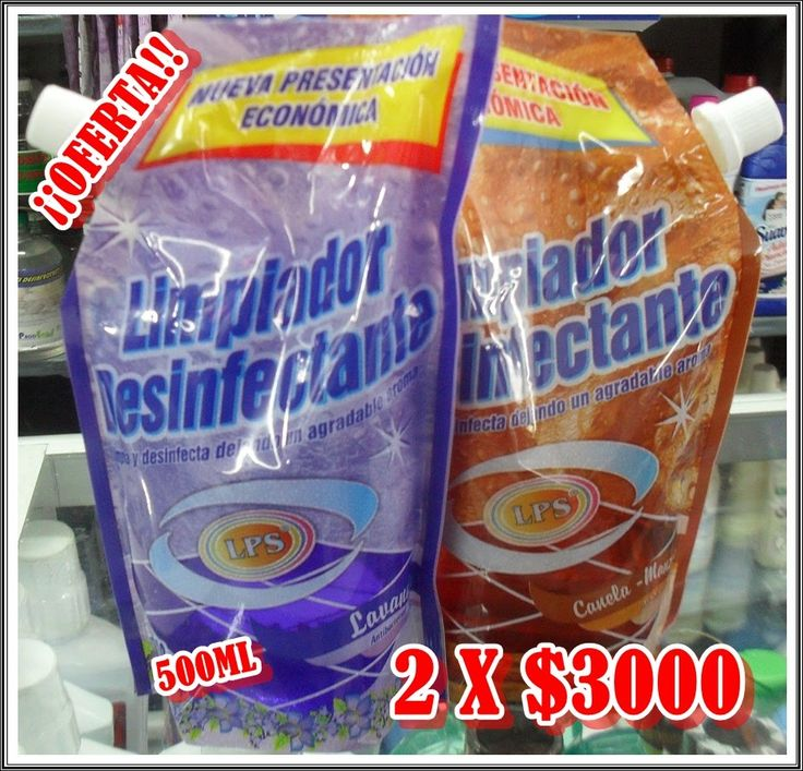 Limpiador desinfectante 2 x 1 500ml c/U