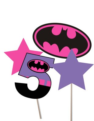 batgirl centerpieces, thor, spiderman, superman, super girl, flash superhero centerpieces, superman centerpieces, superheroes party packages for birthday, baby shower, FREE Superhero banners, Cupcake toppers FREE
