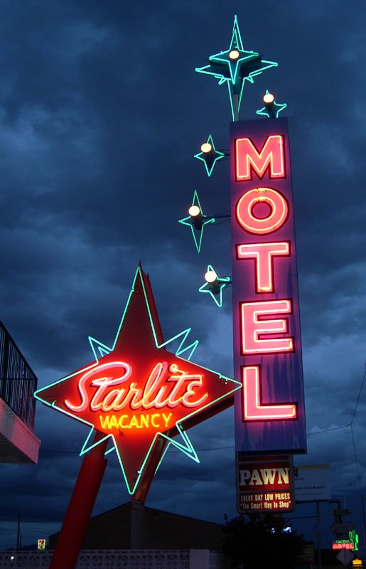 Starlite Motel ~ Vintage Neon Sign