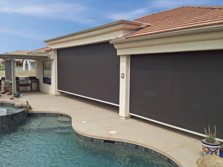Solace Retractable Solution Screens are Ideal for Spa and Patio Enclosures