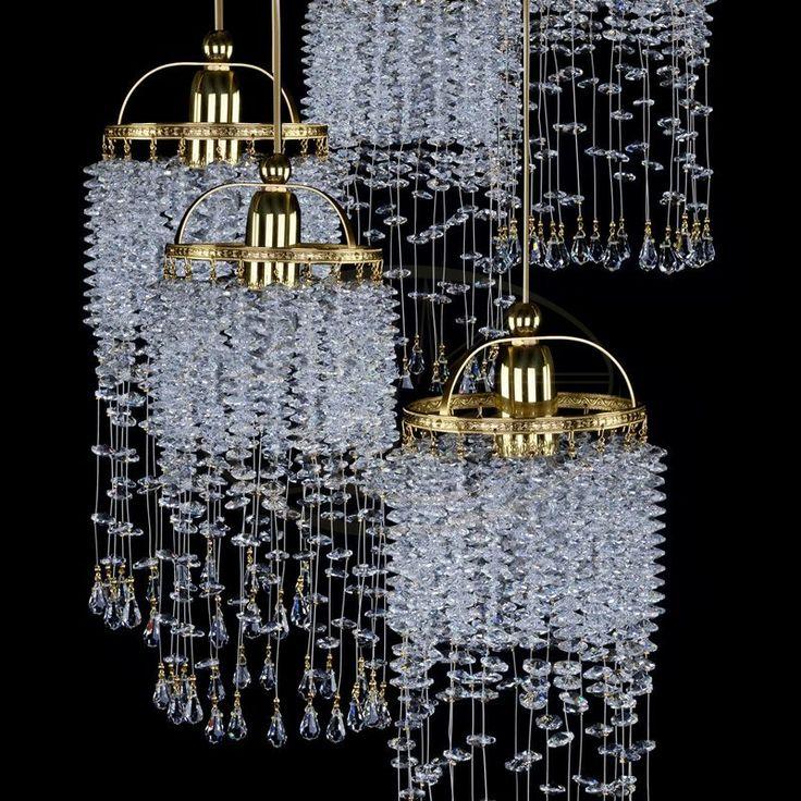 Modern art glass lighting by #ArtGlass #CrystalPendantLight