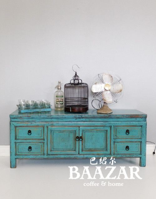O-064 - hitta fler möbler på www.baazar.se  ligt blue, kang, bänk sideboard, hall, kina, baazar, blå, turkos, tvbänk, media, tv, sittbänk small1