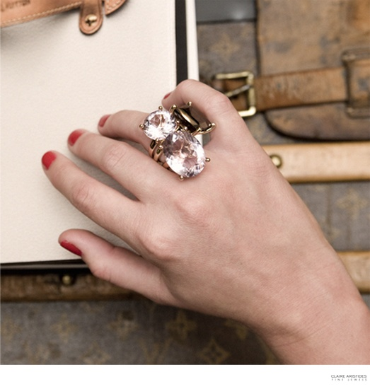 Louis Vuitton trunks and Claire Aristides Fine Jewels...