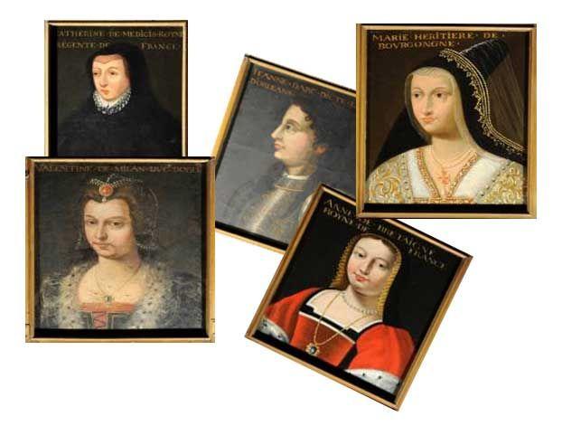Les femmes de la Galerie des Portraits. Le vendredi 28 juin 2013 à Cellettes.  15H30