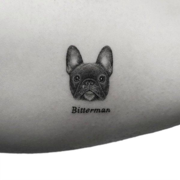 Mr. K, the French Bulldog Puppy tattoo