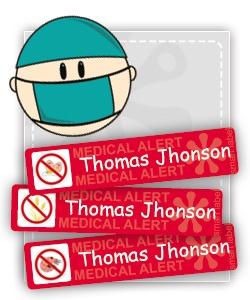 medical alert labels