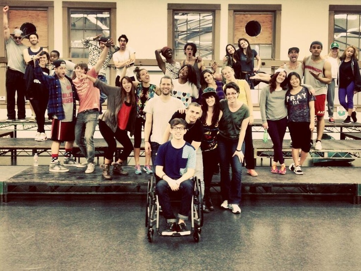 The Glee Cast rehearsing for the Regionals
