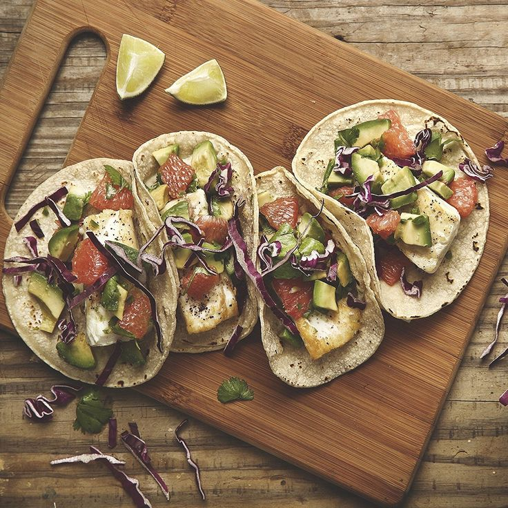 Halibut Tacos with Grapefruit Salsa by Chef'd Partner Women's Health (Dinner for 4) -- Want additional info? Click on the image.