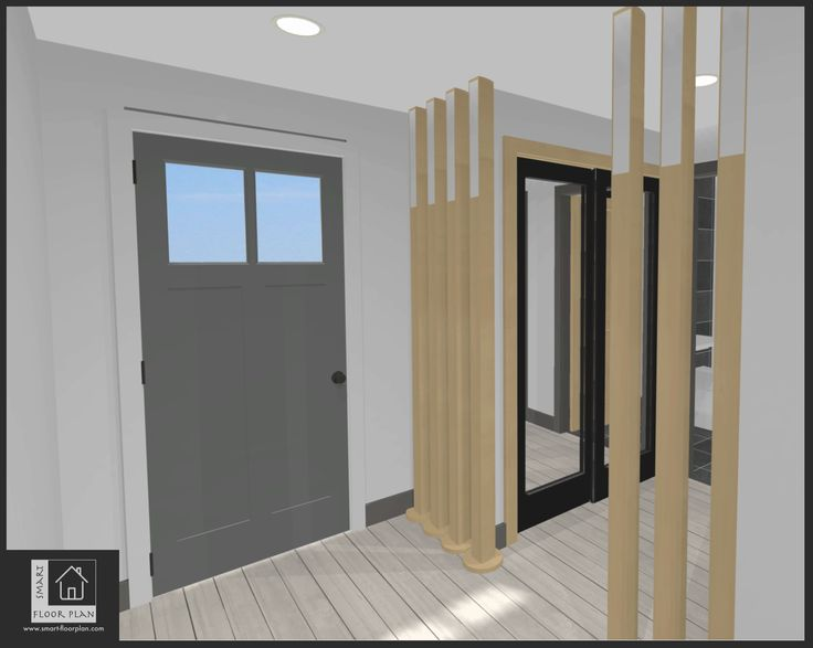 Entrance Kiansale Apartment Floor Plan 3D views. Ireland by https://www.smart-floorplan.com