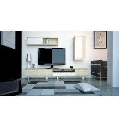 Ensemble Colonne mural étagère et meubles TV