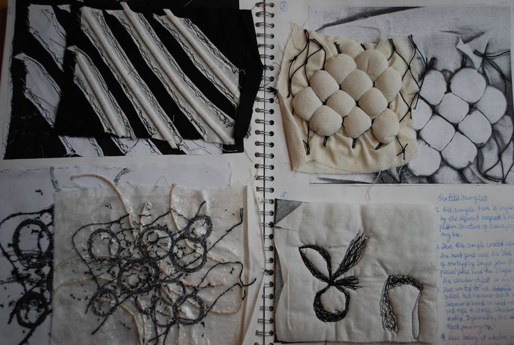 1056338204: 'Surface and Texture' sketchbook textile samples