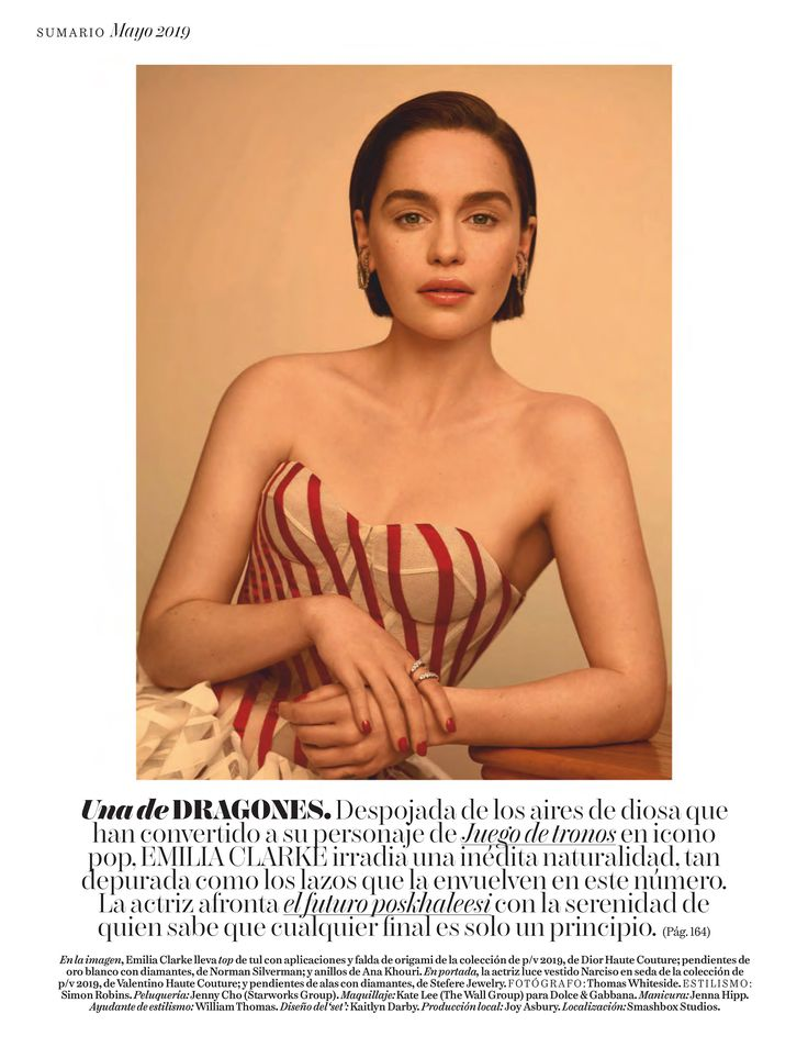 2019 – Vogue Spain (May) – VogueSpain May2019 002 – Adoring Emilia Clarke – The …