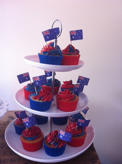Cupcakes at an Australia Day Party #australiaday #cupcakes