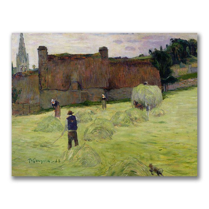 Paul Gauguin 'Haymaking in Brittany' Art