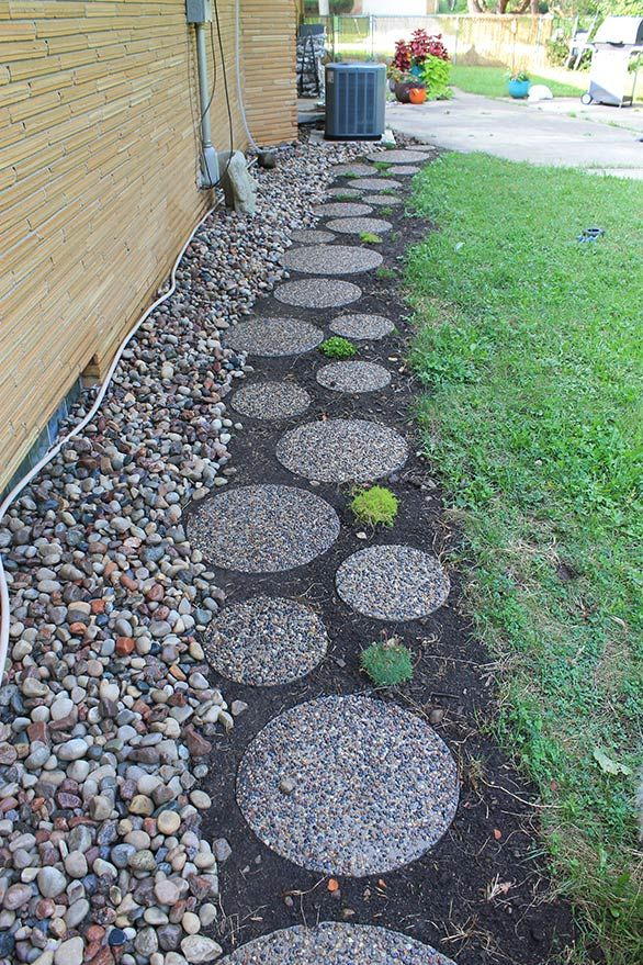 10 Landscaping Ideas For Using Stepping Stones In Your Garden: 14 Best Circular Stepping Stones In Landscape Images On