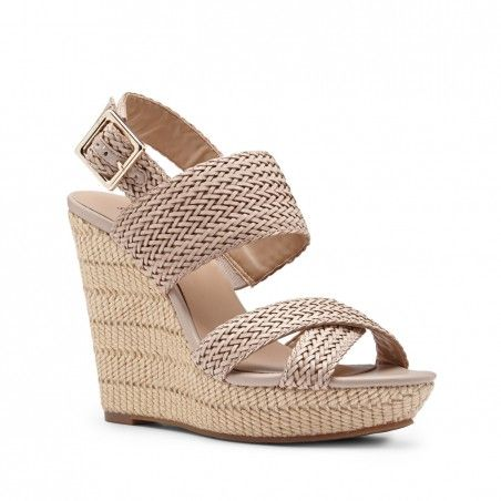 Sole Society - Woven platform wedges - Saraa - French Taupe