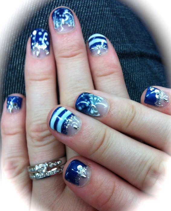 17 Best Ideas About Blue Gel Nails On Pinterest